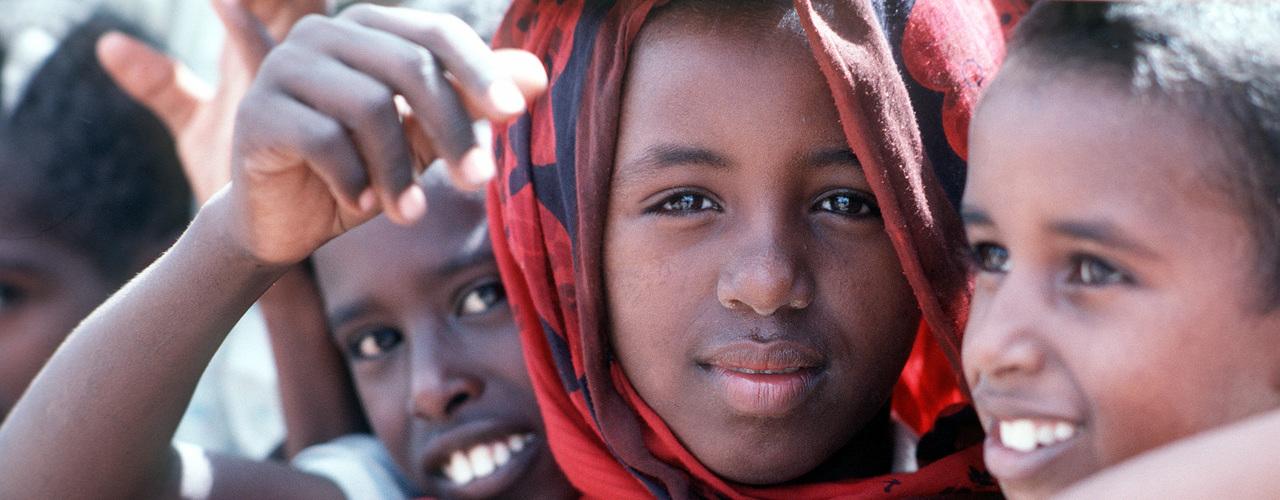 Kinder aus Somalien